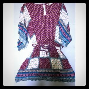 American Eagle patterned peasant dress